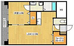 すかる通東[9階]の間取り