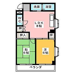 ハヤシマンション[2階]の間取り