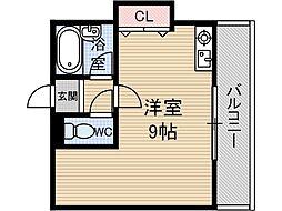 日東西中条ハイツ[4階]の間取り