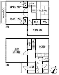 [テラスハウス] 神奈川県横浜市旭区笹野台2丁目 の賃貸【/】の間取り