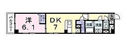 東京都国分寺市泉町3丁目の賃貸アパートの間取り