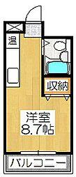 京都府京都市伏見区竹田久保町の賃貸マンションの間取り