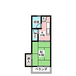 美徳十五番館[2階]の間取り