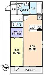 コミチノカーサ[3階]の間取り