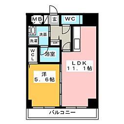 ラシュレ大須[5階]の間取り