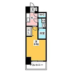 S−RESIDENCE四日市元町 11階1Kの間取り
