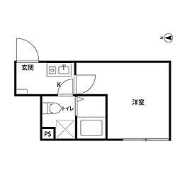 ソフィー川崎[1階]の間取り