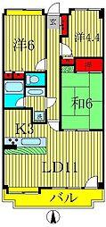 グレイシャス富里[4階]の間取り