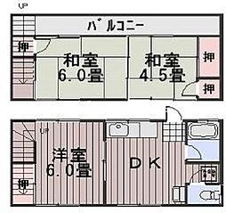 岡山県岡山市南区新保丁目なしの賃貸アパートの間取り