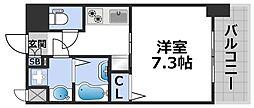 ワールドアイ大阪ドームシティ 10階1Kの間取り