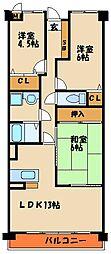 プラザハイツ二ツ屋 G棟[1階]の間取り