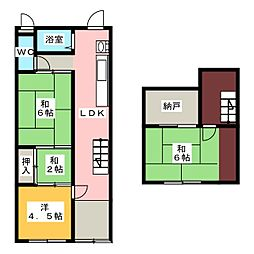 [一戸建] 愛知県名古屋市中村区松原町1丁目 の賃貸【/】の間取り