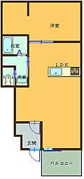 (仮)船尾新築アパート 1階1LDKの間取り