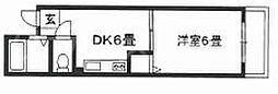 大阪府大阪市旭区中宮3丁目の賃貸マンションの間取り
