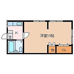 波多腰アパート[2階]の間取り