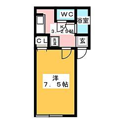 セジュール御殿場[2階]の間取り