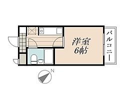 JR京浜東北・根岸線 北浦和駅 徒歩9分の賃貸マンション 1階1Kの間取り