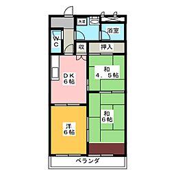 福寿豊成[3階]の間取り