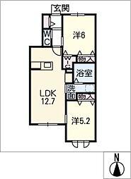 仮)一宮市富士4丁目ヘーベルメゾン[1階]の間取り