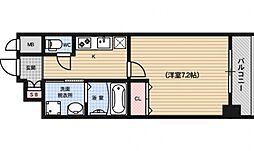 レジデンス京都ミッドシティ[305号室号室]の間取り