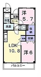 ア・ラ・モードU[4階]の間取り
