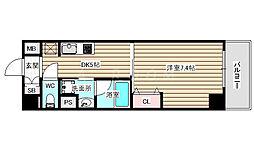 ボヌール梅田 5階1DKの間取り