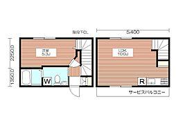 仮称K-House 初台のフルリノヴェーションペット可メ[2階]の間取り