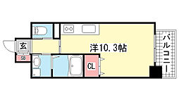 Fuji Garden 神楽[302号室]の間取り