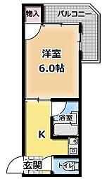 ピュアスモト B棟[5階]の間取り