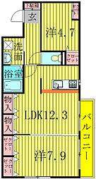INSURANCE BLDG.6[4階]の間取り
