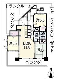 レジディア白壁東[5階]の間取り