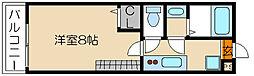 フラッティ京都御所北[210号室]の間取り