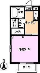 サンセール富士見[B101号室]の間取り