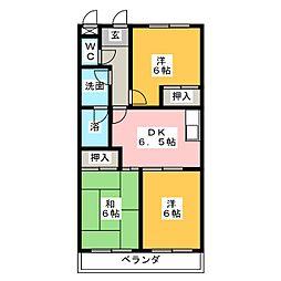 昭和マンション[3階]の間取り