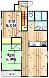 ピエス鶴川[201号室]の間取り