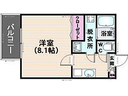 サントピア須玖[102号室]の間取り