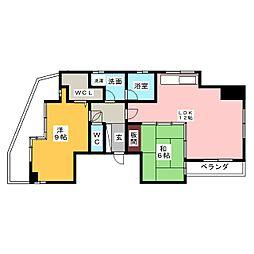 ラウムズ亀島 603[6階]の間取り