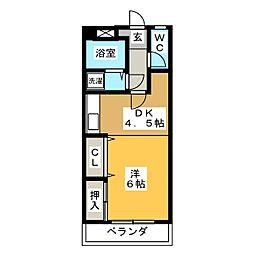 コーポYOSHI[2階]の間取り