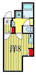 ATORAS MAKUHARI 2階ワンルームの間取り