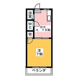 ビーフリーML−B[2階]の間取り
