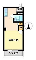 シャトー鶴舞[7階]の間取り