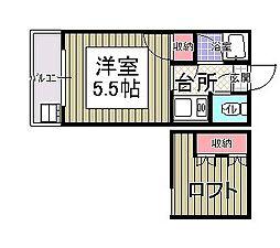 プレジュール唐原[2階]の間取り