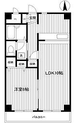神奈川県横浜市中区花咲町3丁目の賃貸マンションの間取り