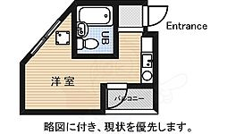 JR中央線 東小金井駅 徒歩3分の賃貸マンション 1階ワンルームの間取り