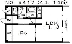 あびこスカイハイツ[4階]の間取り