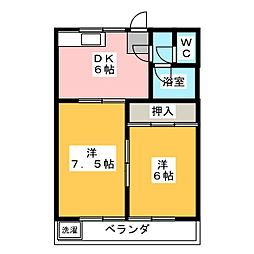 ベルメゾンSHIMA[2階]の間取り