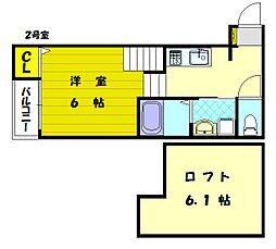 ハーモニーテラス和白[1階]の間取り