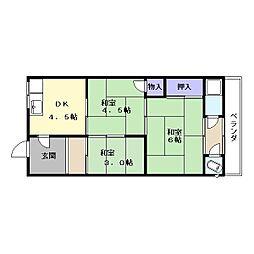 椿本アパート(箕山町)[1階]の間取り