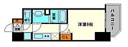 グランカリテ大阪城EAST 5階1Kの間取り