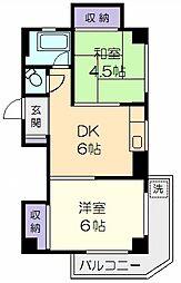 東京都板橋区小豆沢2丁目の賃貸マンションの間取り